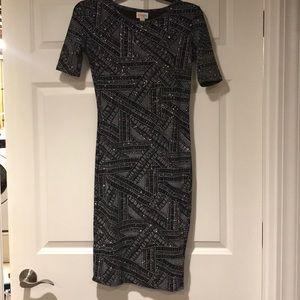 Black and glitter dress!